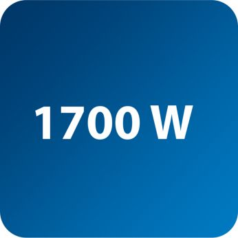 Power up to 1700 W enabling constant high steam output