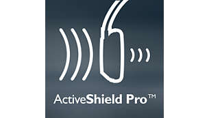 ActiveShield Pro™ noise-cancelling reduces noise by up to 99%