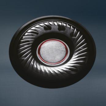 40mm neodüümist kõlarielemendid edastavad täpset heli