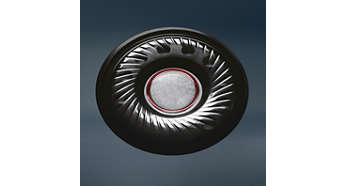 Neodymium-luidsprekerdrivers van 40 mm zorgen voor een zeer nauwkeurig geluid