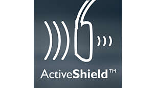 ActiveShield™ noise cancelling reduces noise by up to 97%