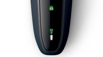 1-level battery and travel lock Indicators