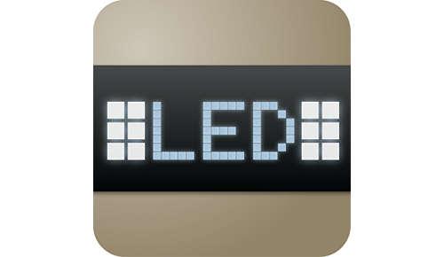 Tactile backlit display and seamless navigation