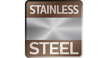 Iconic stainless steel front, shaped to precision
