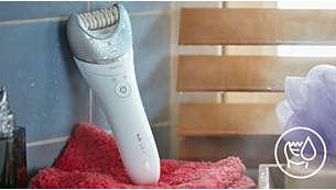 Appareil sans fil pour peau sèche ou humide, fonctionne sous la douche ou dans le bain