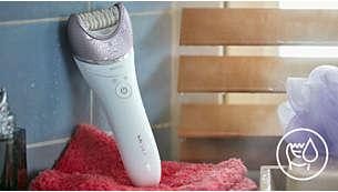 Voor draadloos nat en droog gebruik. Kan in bad of onder de douche worden gebruikt
