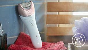Modalità Wet & Dry senza fili per l'utilizzo nella vasca o sotto la doccia