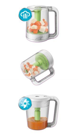 De la cuisson au mixage avec un seul bol pratique