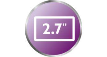 """Экран 2,7"""" с высоким разрешением — четкое изображение благодаря системе ночного видения"""