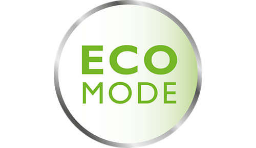 Energy-saving eco mode with connection indication