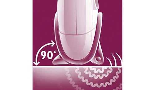 L'accessoire spécial débutantes garantit un contact optimal avec la peau.