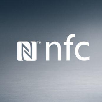 Conexión NFC con un solo botón para una sincronización sencilla