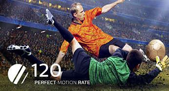 Perfect Motion Rate à 120Hz pour un meilleur temps de réponse des pixels
