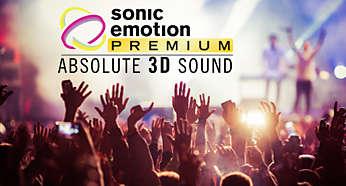 Sonido envolvente con voz nítida diseñado por sonic emotion