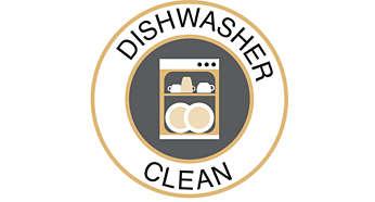 Pulizia facile grazie alle parti lavabili in lavastoviglie