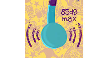 Maximum volume limited to 85 dB for safe music enjoyment