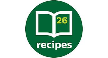Uključena knjiga recepata za svakodnevno nadahnuće obrocima