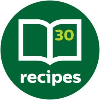 Приложена е книжка с рецепти за вдъхновение всеки ден