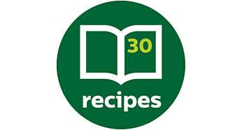 W zestawie książka z inspirującymi przepisami na codzienne posiłki