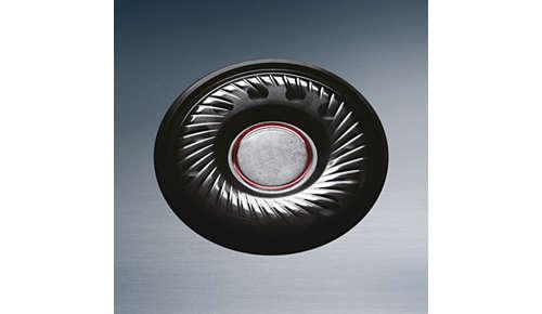 High Intensity-drivers van 32 mm voor dynamische en stevige bas