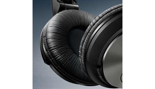 Zachte, ademende oorkussens voor langdurige luistersessies