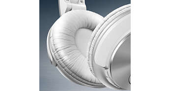 Myke øreputer som puster, for lytting i lengre perioder