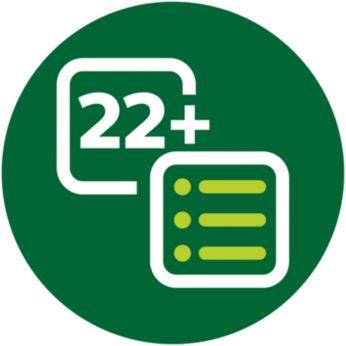 22+ предварително зададени програми ви позволяват да готвите с лекота