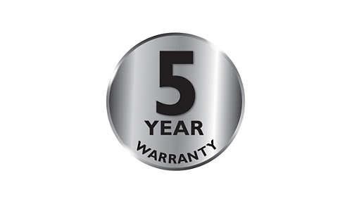 2 års garanti samt ytterligare 3 år vid registresting online