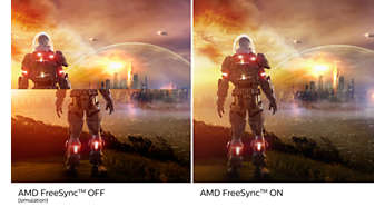 Excellent gameplay avec la technologie AMD FreeSync™