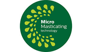 MicroMasticating 可榨取高達 90%* 的水果汁液