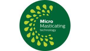 Технология MicroMasticating позволяет выжимать до 90%* фруктов