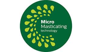MicroMasticating haalt tot 90%* uit het fruit