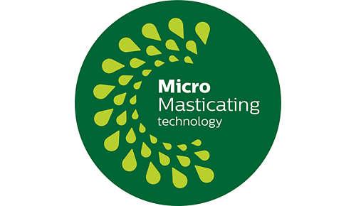 MicroMasticating estrae fino al 90%* della frutta