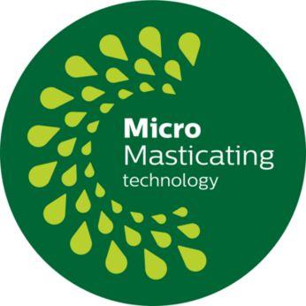 Технологията MicroMasticating изцежда до 90%* от плода