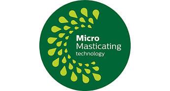 MicroMasticating extrahiert bis zu 90%* der Nährstoffe aus Obst und Gemüse