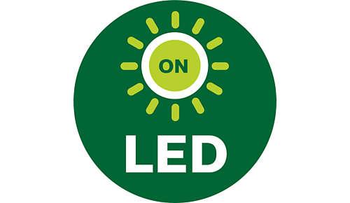 LED's geven u feedback bij het monteren