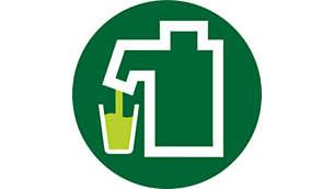 Pressar juice direkt ner i glaset