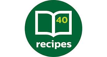 Inspirerande receptbok medföljer