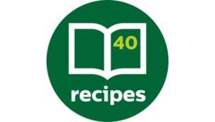 В комплекте внушительная кулинарная книга