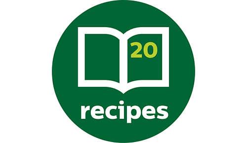 Inspiring recipe book included