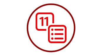 11 programações de cozimento pré-configuradas e função manual Minha Receita