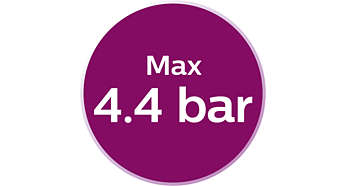 Max. 4,4 Bar Pumpendruck