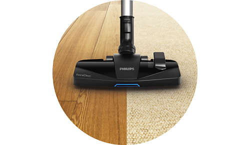 New ExtraClean nozzle for thorough cleaning on all floors