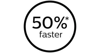 50% mais rápido e reduz o tempo de tratamento*