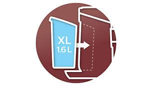 Réservoir d'eau XL (1,6l) pour jusqu'à 11tasses de café SENSEO®