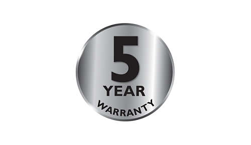 Garanzia di 2 anni più 3 anni tramite la registrazione online del prodotto