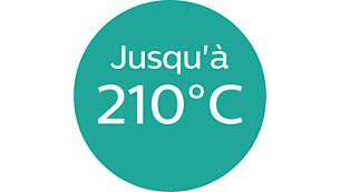 Temperatura de moldeado de hasta 210°C para unos resultados perfectos