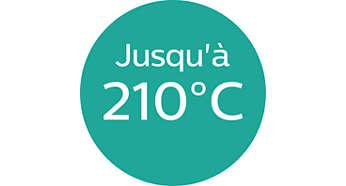 Température jusqu'à 210°C pour des résultats impeccables
