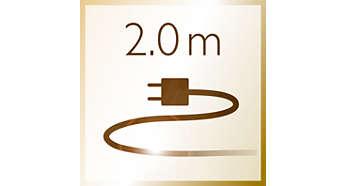 Cordon de 2m, utilisé dans les salons