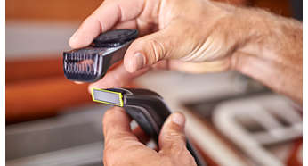 Precision trimming comb has 12 length settings (0.5 to 9 mm)
